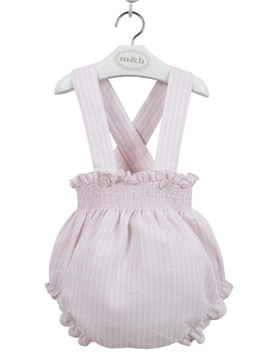baby bloomer pink stripes myh