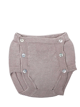 Beige knit baby bloomer