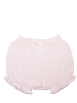 Baby pink knit bloomer with ruffles