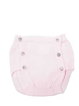 Pink knit baby bloomer