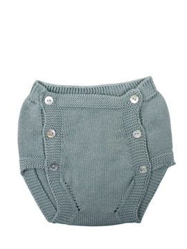 Aquarelle green knit baby bloomer