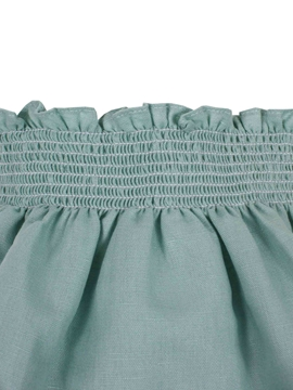 green linen cotton bloomer