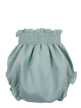 Aquarelle green linen bloomer
