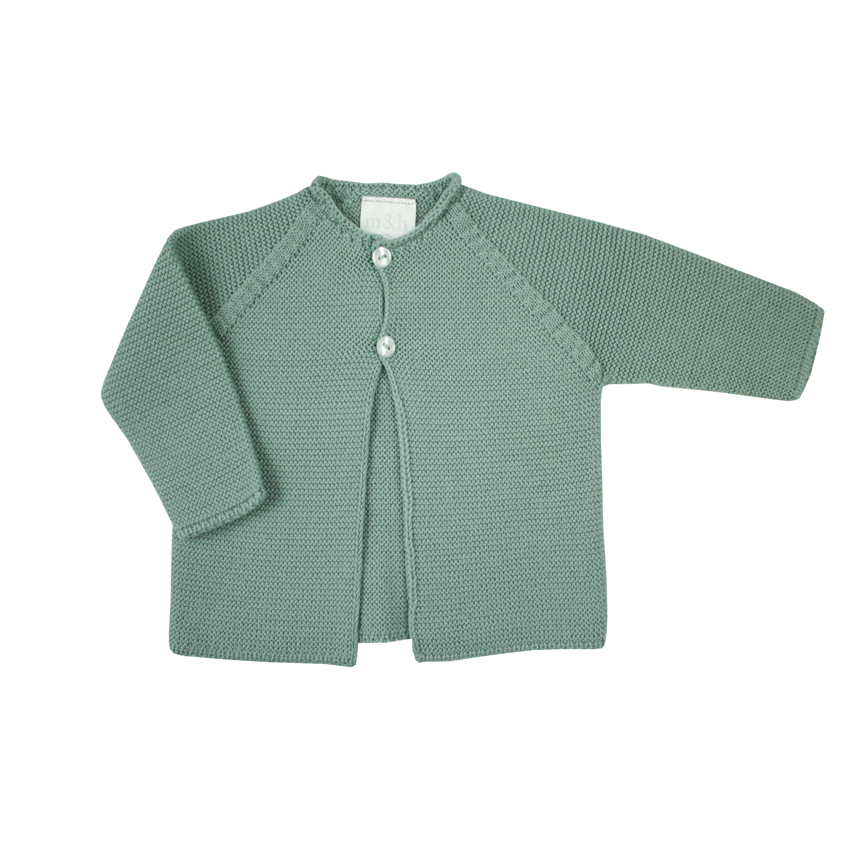 52926ca32 Chaqueta verde agua punto bebé