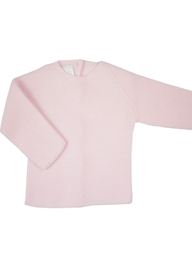 Pink thick knit baby sweater