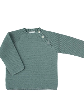 Aquarelle green buttons sweater
