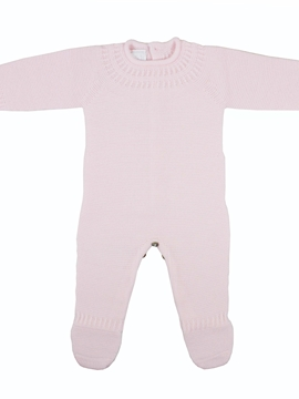 Baby knit romper in pink