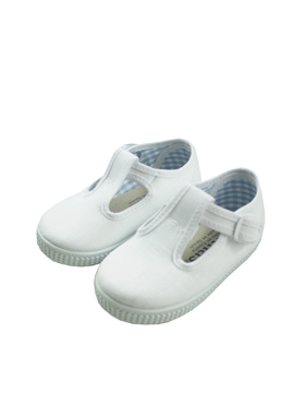 Zapatillas loneta pepito en blanco