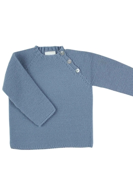 Five buttons sweater in medium blue