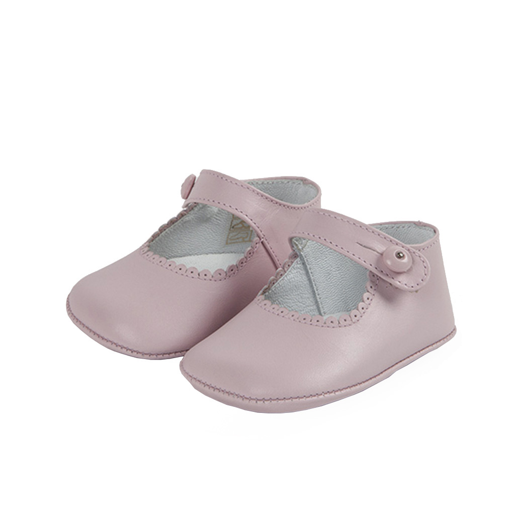 fbf0ad5153ee8 Mary Jane baby pastel pink girl leather shoes m&h
