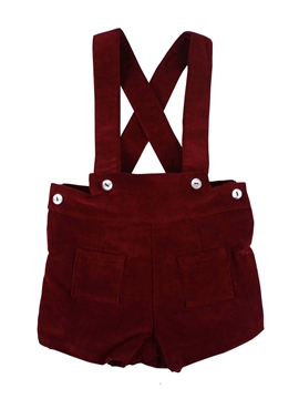 toddler boy corduroy with braces burgundy