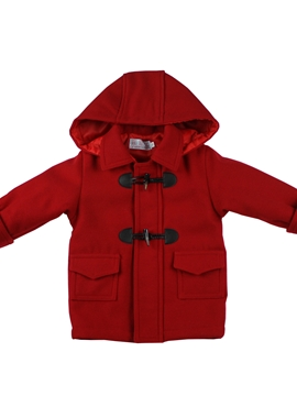 red toddler boy coat