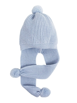 Knit hat blue