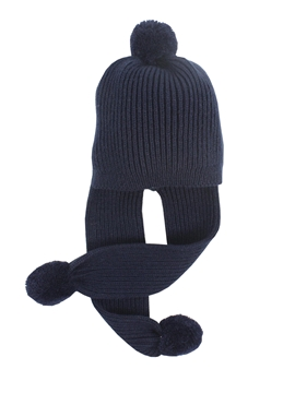 Knit hat navy blue