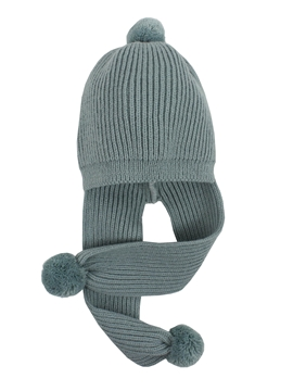 Knitted hat aquarelle green