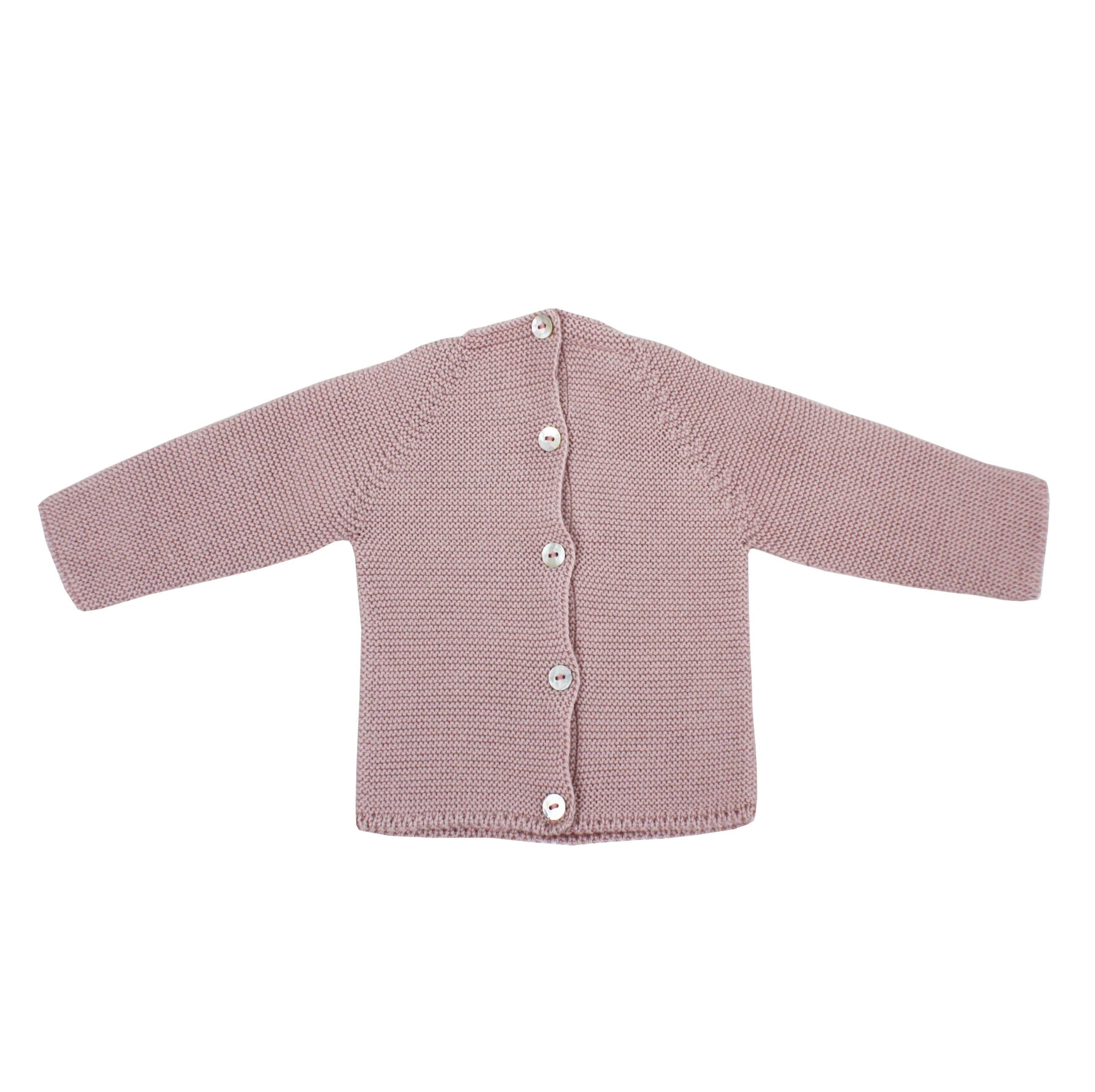 6b7dd6587 Jersey de bebé rosa palo en punto bobo.