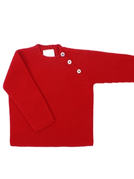 Five buttons sweater in red