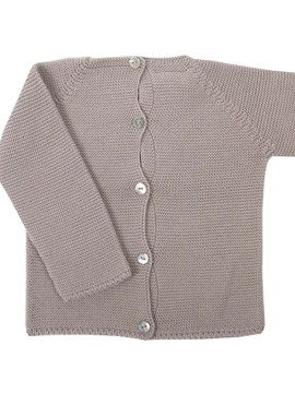 Beige thick knit baby sweater