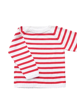 sweater stripes navy red white