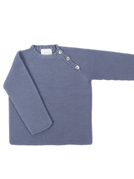toddler knit sweater in medium blue