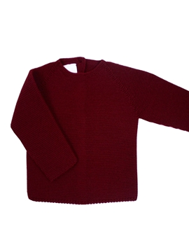 Burgundy thick knit sweater