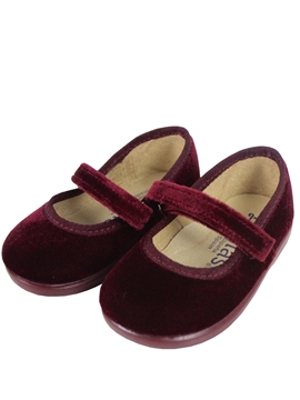 Burgundy cross bar shoes