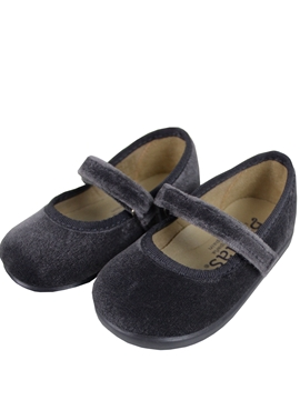 Croos bar velvet shoes grey