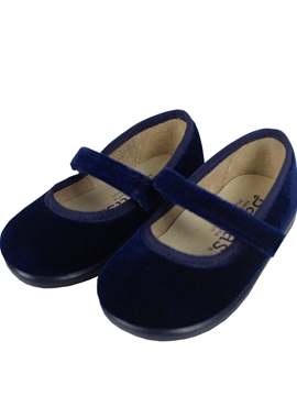 Croos bar velvet shoes blue