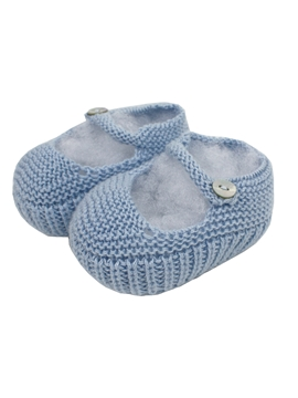 Knit blue baby jane