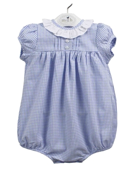Baby romper suit plaid blue