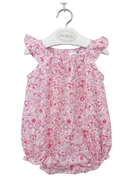 baby romper suit pink liberty
