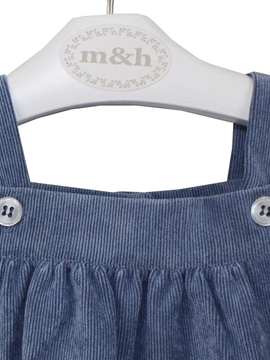 baby romper medium blue corduroy