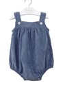 medium blue corduroy romper baby