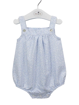 Baby romper blue and white pattern