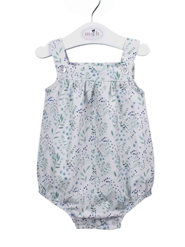 Baby romper blue and green