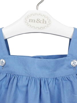 medium blue baby romper