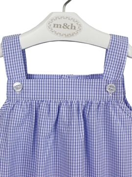 baby romper blue plaid