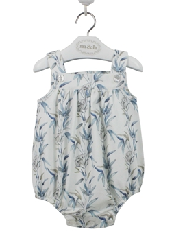 baby roper koala pattern blue grey