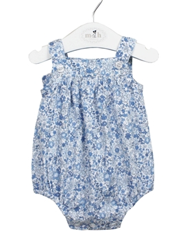 blue liberty baby romper