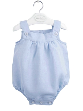 Baby romper medium blue