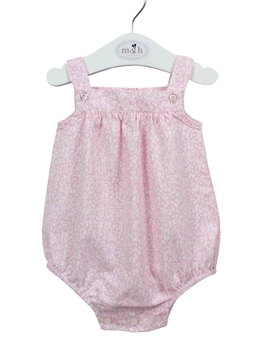 Baby romper pink and white stars