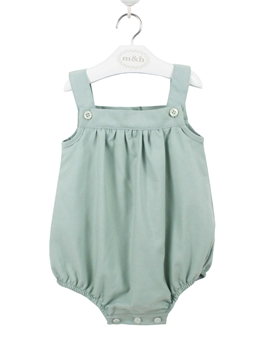Green baby romper detail