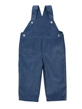 Medium blue corduroy microfiber long romper
