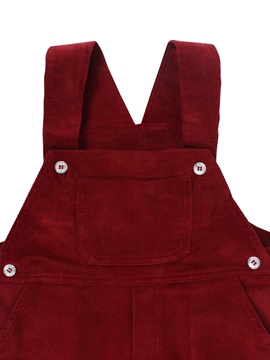 long corduroy romper burgundy