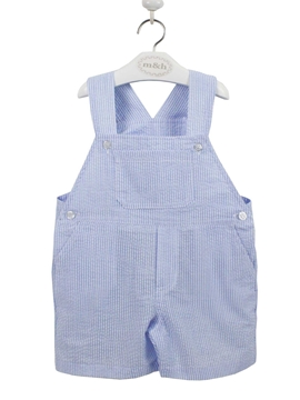 Striped romper in blue. Oscar model