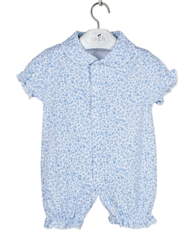 short sleepsuit blue stripes