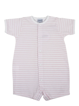 Short pink stripes sleepsuit