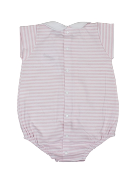 short sleepsuit pink stripes