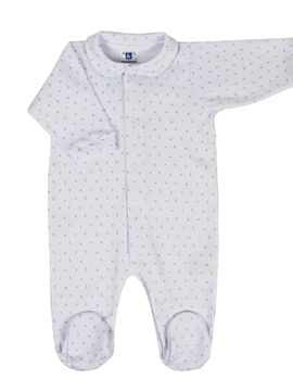 Sleep suit white and blue stars
