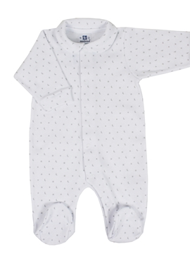 Sleep suit white and grey stars